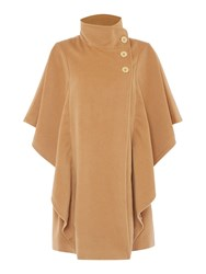 Biba Luxe Button Detail Cape Camel