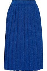 Sibling Pleated Metallic Knitted Skirt