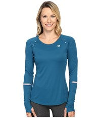 New Balance Nb Ice Long Sleeve Shirt Castaway Women's Long Sleeve Pullover Green