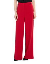 Ellen Tracy Satorial Sophistication Wide Leg Trousers Red