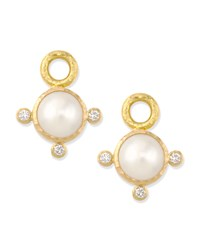 8Mm White Akoya Pearl Earring Pendants Elizabeth Locke