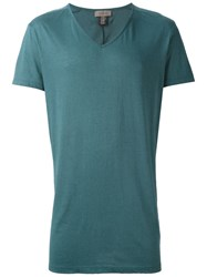 Tony Cohen V Neck T Shirt Green