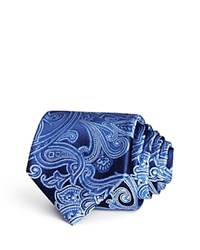 Bloomingdale's The Men's Store At Large Paisley Classic Tie Navy