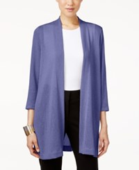 Alfani Knit Open Front Cardigan Only At Macy's Alf Pery Blue