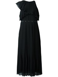 Giamba Plisse Frill Dress Black