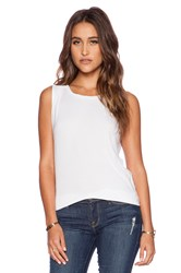 Dolan Pleated Shoulder Tank White