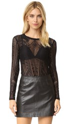 Bcbgmaxazria Lace Blouse Black