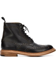 Grenson Brogue Detail Boots Black