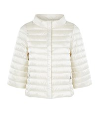 Max Mara Maxmara Weekend Lisotte Bell Sleeve Quilted Down Jacket Female Ivory