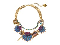 Betsey Johnson Into The Blue Seashell Frontal Necklace Multi Necklace