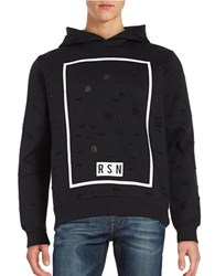 Reason Cutout Graphic Hoodie Black