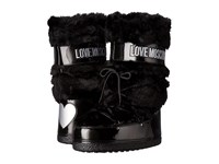 Love Moschino Faux Fur Moon Boot Black Women's Boots