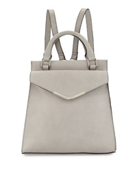 Neiman Marcus Isla Faux Leather Backpack Light Gray