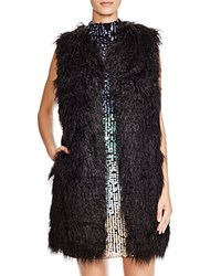French Connection Chicago Faux Fur Vest Black