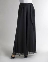 Marina Pull On Chiffon Glitter Skirt Black