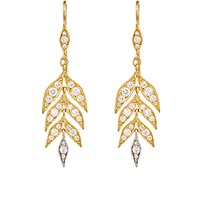 Cathy Waterman Women's Falling Leaves Drop Earrings No Color