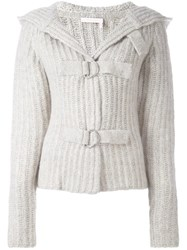 See By Chloe Hooded Cardigan Grey