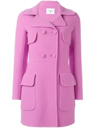 Dondup Double Breasted Coat Pink Purple