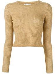 Forte Forte 'My Knit' Ribbed Jumper Brown