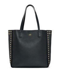 Vince Camuto Punky Vachetta Leather Tote Navy Blue