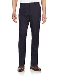 Vince Military Dress Wool Blend Cargo Pants Coastal Blue