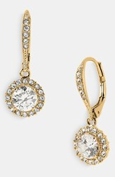 Women's Nadri Cubic Zirconia Drop Earrings Gold Clear Crystal