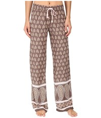 Pj Salvage Chic Paisley Lounge Pants Coco Women's Pajama Brown