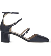 Whistles Montana Patent Leather Heeled Sandals Navy