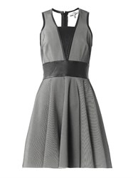 Robert Rodriguez Bonded Mesh Sleeveless Dress