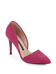 French Connection Ellis Beaded Suede D'orsay Pumps South Beach