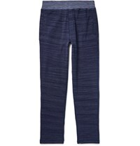 Missoni Tapered Crochet Knit Cotton Trousers Indigo