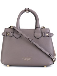 Burberry Runway Checked Side Tote Grey