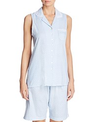 Eileen West Notch Collar Clamdigger Pj Set White Ground Geo