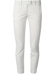 Dondup Cropped Trousers White