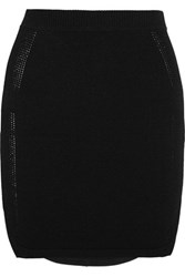 J Brand Carol Stretch Jersey Mini Skirt Black