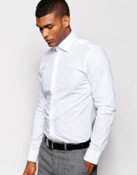 Reiss Formal Shirt With Stretch In Slim Fit White