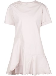 See By Chloe Scalloped Hem Dress Pink And Purple