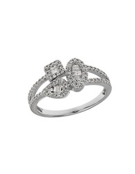 Lord And Taylor Diamond And 14K White Gold Multi Shape Ring