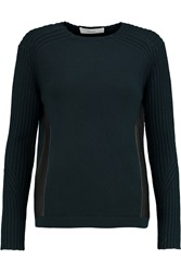 Pringle Leather Trimmed Cashmere Sweater