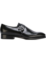 Canali Monk Strap Shoes Black