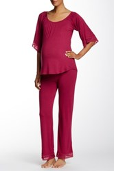 Belabumbum Eva Maternity Tunic And Pant Set Red
