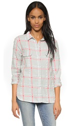 Sundry Flannel Check Shirt Pearl Grey