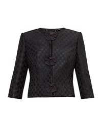 Ted Baker Malini Glitter Bow Cropped Jacket Black