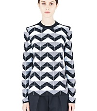 Paco Rabanne Geometric Jacquard Sweater Black