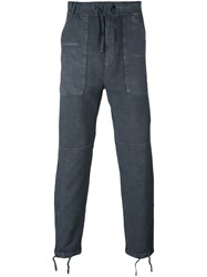 Stone Island Shadow Project Drop Crotch Long Trousers Grey