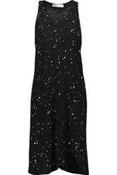 Kain Label Everly Paint Splattered Cotton And Modal Blend Jersey Dress Black