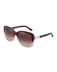 Swarovski Square Ombre Sunglasses Bordeaux
