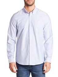 Wesc Cotton Long Sleeve Shirt Polar Blue
