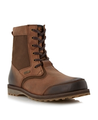 Barbour Corin Lace Up Cleated Sole Boots Tan