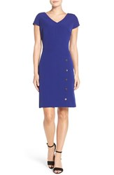 Julia Jordan Women's Snap Button Sheath Dress Cobalt